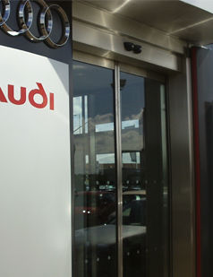 Automatic doors fitted by SDG UK