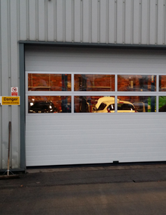 Sectional overhead doors fitted by sdg uk