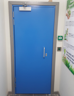 Steel set doors fitted by SDG UK
