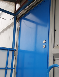 Steel set doors installed by SDG UK