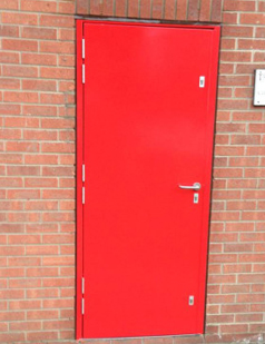 Steel set doors supplied by SDG UK