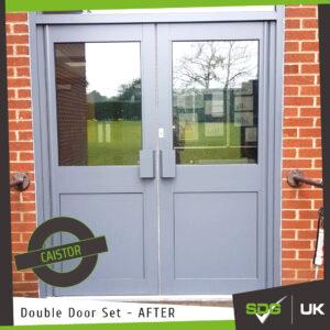 Aluminium Manual Double Doors | Caistor Yarborough Academy